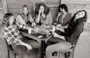 Original Outlaws (L-R) Billy Jones, Monte Yoho, Hughie Thomasson, Frank O' Keefe and Henry Paul (photo copyright John Gellman)