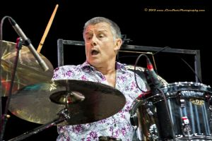 Carl Palmer drumming away at the Yestival with his ELP Legacy Band (courtesy Buster Harvey (c) 2013 www.LiveShotsPhotography.com)