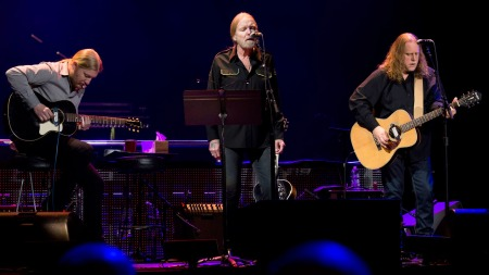 Derek Trucks (L) has played with Gregg Allman (middle) and Warren Haynes in the Allman Bros. for 15 years (courtesy hollywoodreporter.com)