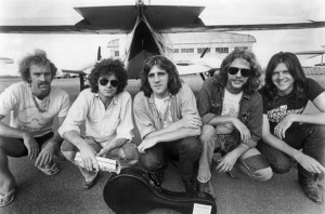The Eagles with Don Felder (second from right) in the early 70's (courtesy Getty Images)