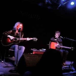 Allison Moorer (L) and Mary Gauthier at Jammin Java 3-19-15