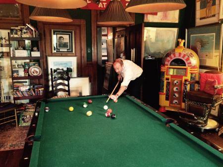 Breaking 'em up in the Beatles Pool Room (Photo courtesy Steve Houk)
