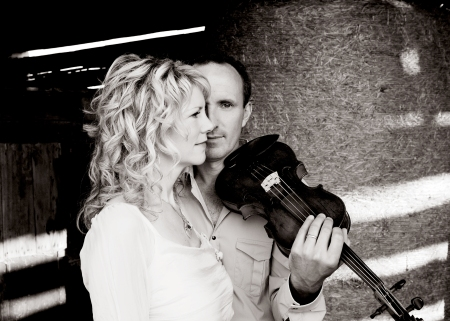 Donnell Leahy and Natalie MacMaster bring their powerful Celtic-infused fiddle magic to The Birchmere on October 29th (photo courtesy Rebecca Littlejohn)