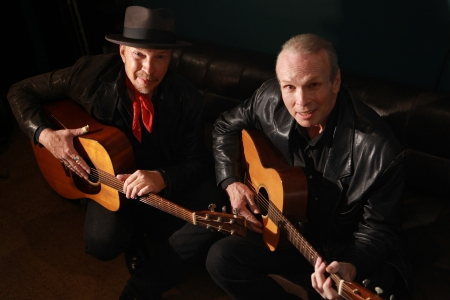 Dave Alvin (L) and Phil Alvin play The Birchmere Saturday October 31st (photo courtesy Jeff Fasano)