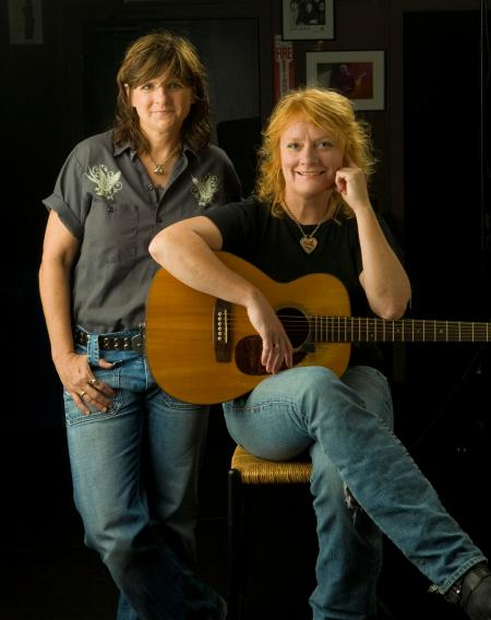 The Indigo Girls, photographed here at Atlanta's Roxy Theatre shortly before a concert, play The Birchmere November .