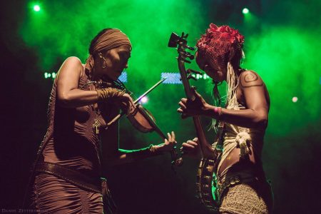 Chloe Smith and Leah Song of Rising Appalachia (photo courtesy Envision)